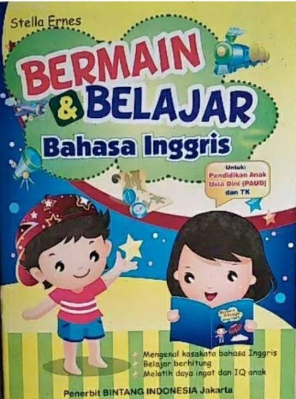 Cover Buku Bermain & Belajar Bahasa Inggris (PAUD dan TK)