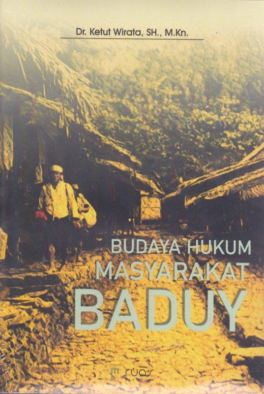 Cover Buku Budaya Hukum Masyarakat Baduy
