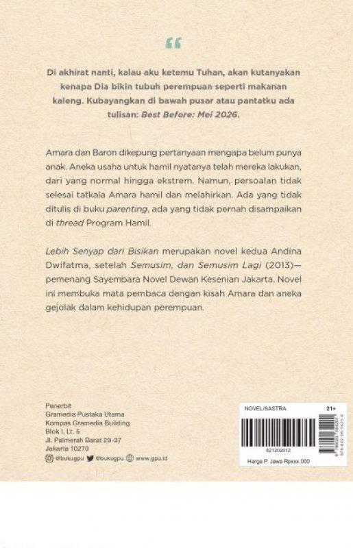 Cover Belakang Buku Lebih Senyap dari Bisikan