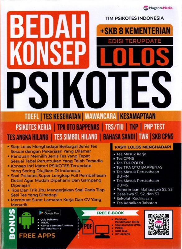 Cover Buku Bedah Konsep Lolos Psikotes
