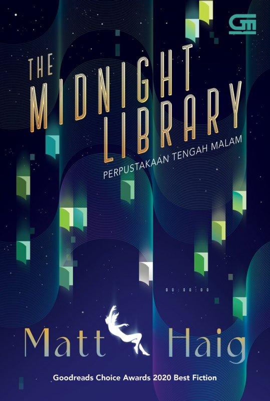 Cover Buku The Midnight Library ( Perpustakaan Tengah Malam )