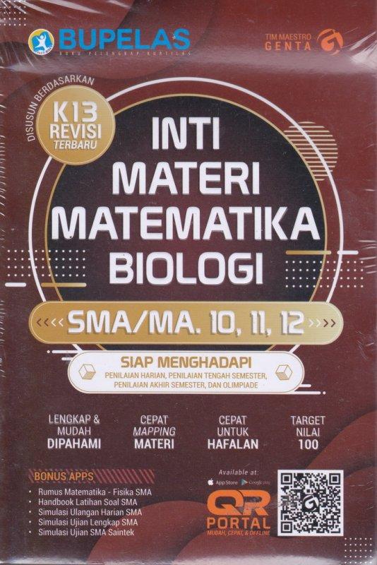 Cover Belakang Buku Inti Materi Matematika Biologi Sma/Ma 10,11,12