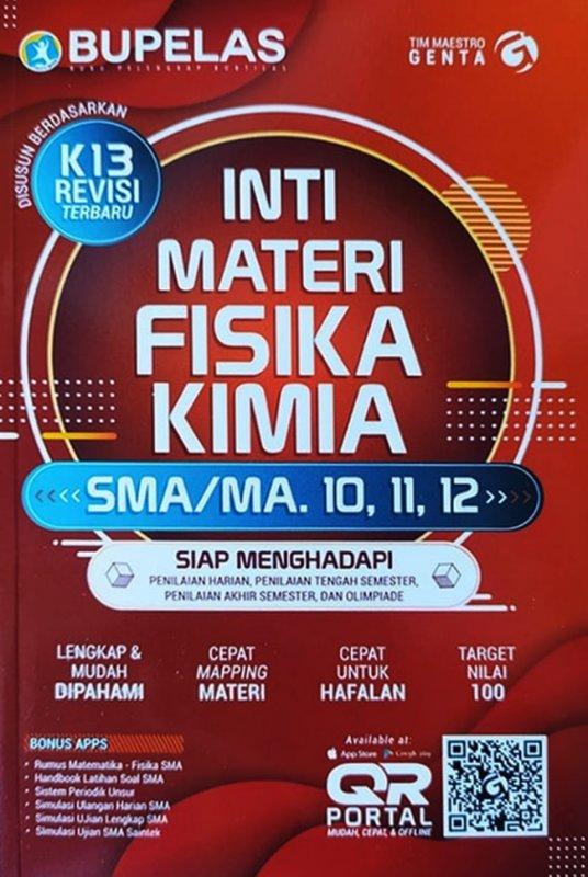 Cover Belakang Buku Inti Materi Fisika - Kimia Sma Kls 10,11,12
