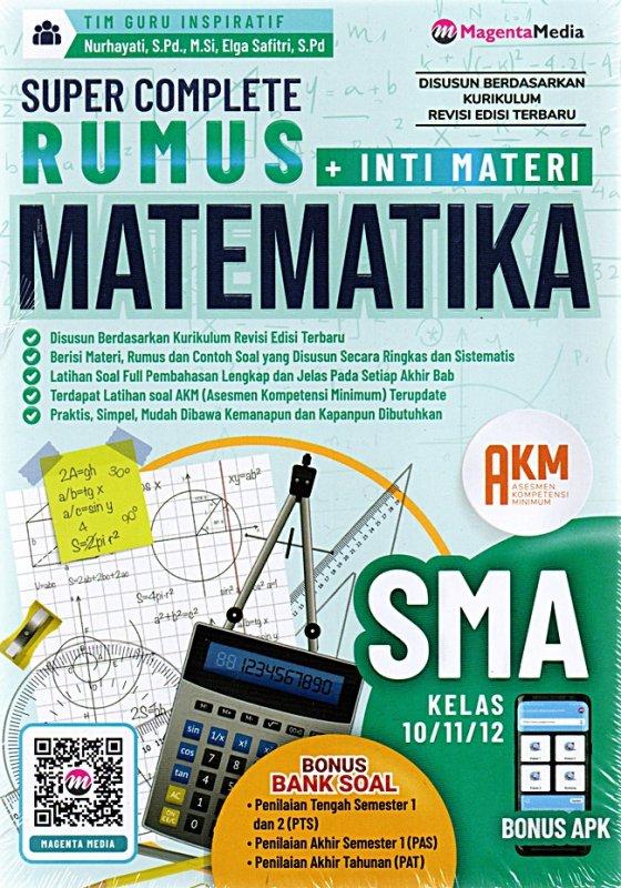 Cover Buku Super Complete Rumus Matematika Sma 10,11,12