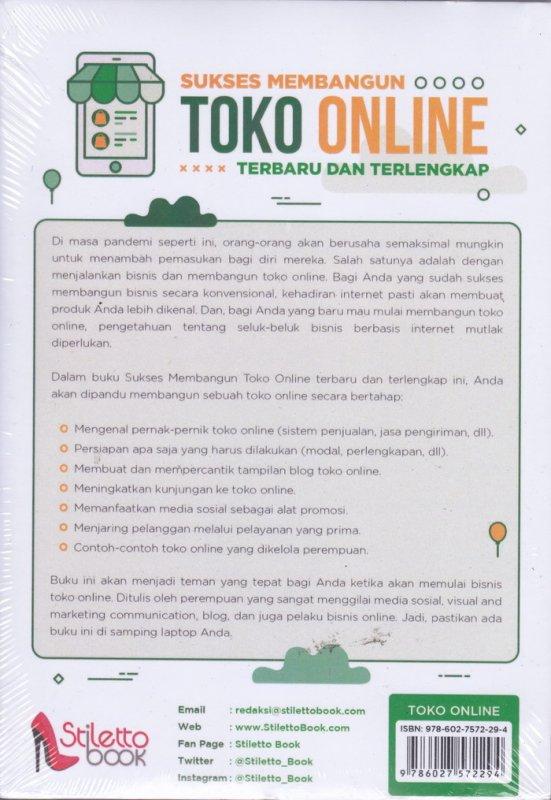 Cover Belakang Buku Sukses Membangun TOKO ONLINE ( Terbaru dan Terlengkap )