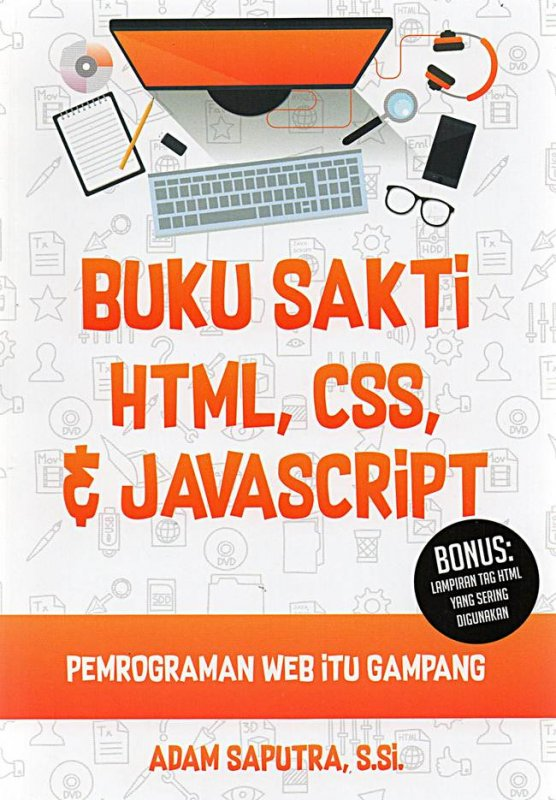 Cover Buku Buku Sakti Html, Css & Javascript : Pemrograman Web Itu Gamp