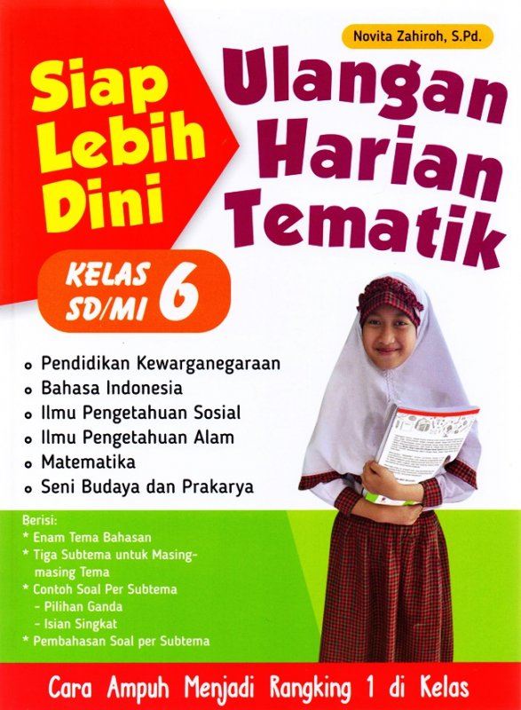 Cover Buku Siap Lebih Dini Ulangan Harian Tematik Sd/Mi Kl.6