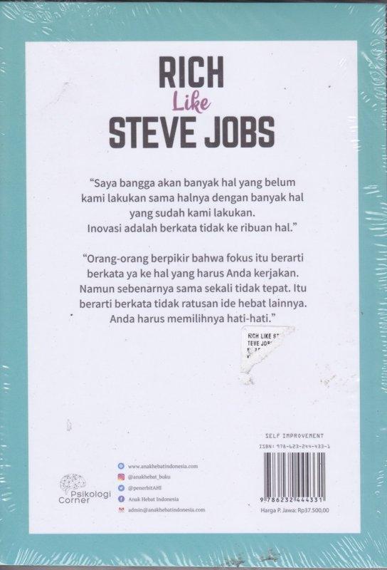 Cover Belakang Buku RICH Like STEVE JOBS