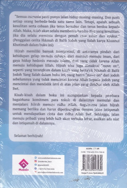 Cover Belakang Buku Hijrah Itu Anugerah:Menjemput Hidayah Dengan Istiqomah