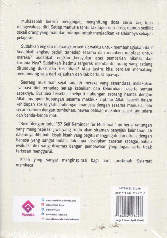 Cover Belakang Buku 57 Self Reminder For Muslim