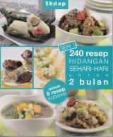 Buku 240 Resep Hidangan Sehari-Hari Untuk 2 Bulan Seri 1 Bonus 8 Resep Kudapan Bk