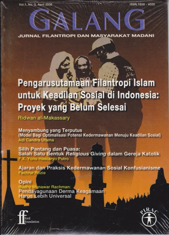 Cover Buku Jurnal GALANG Vol.1 No. 3 - April 2006