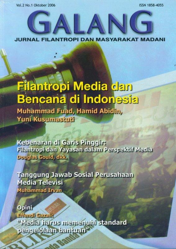 Cover Buku Jurnal GALANG Vol.2 No. 1 - Oktober 2006