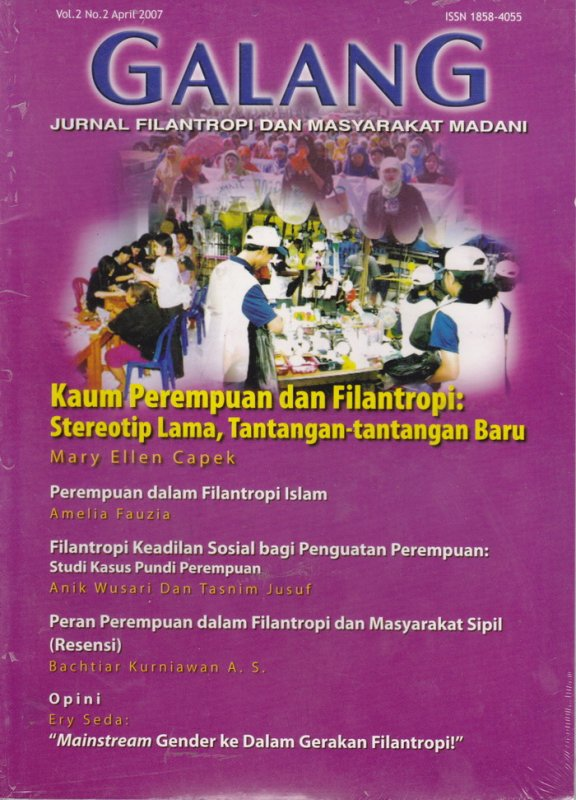 Cover Buku Jurnal GALANG Vol.2 No. 2 - April 2007