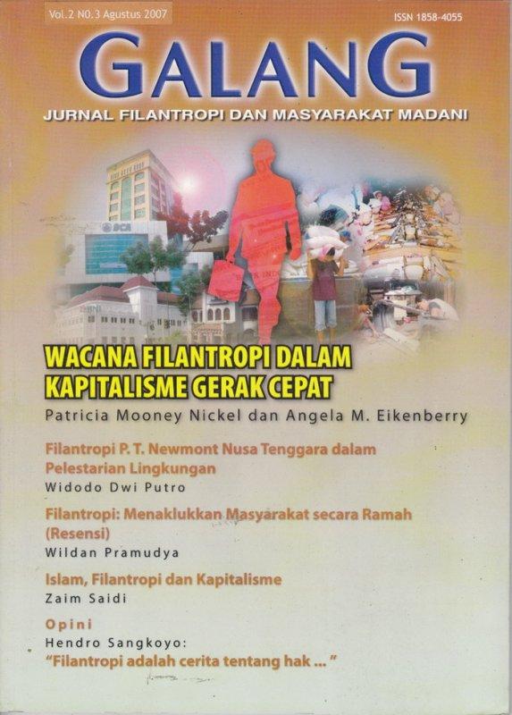 Cover Buku Jurnal GALANG Vol.2 No. 3 - Agustus 2007