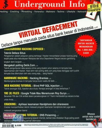 Cover Buku Underground Info No 1 Virtual Defacement