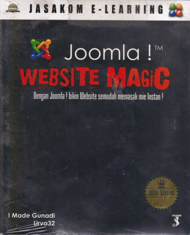 Cover Buku Joomla! WEBSITE MAGIC Dengan Joomla! bikin Website semudah memasak Mie Instan !