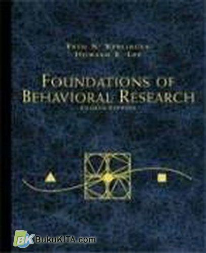 Cover Buku Foundations Of Behavioral Research, 4e (Hard Cover) - Special Offer