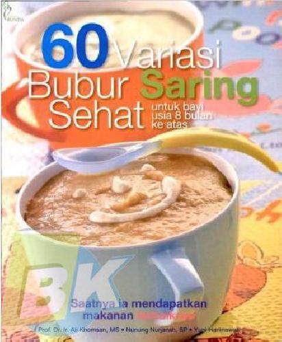 Cover Buku 60 Variasi Bubur Saring Sehat