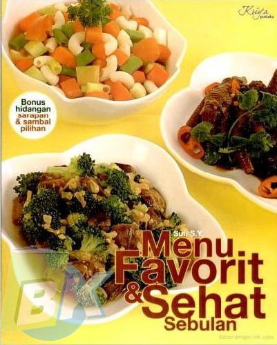 Cover Buku Menu Favorit dan Sehat Sebulan