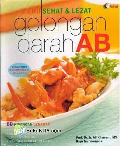 Cover Buku Menu Sehat & Lezat Golongan Darah AB