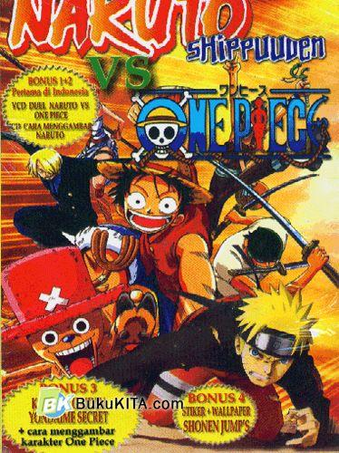 Cover Buku Naruto Shippuuden VS One Piece
