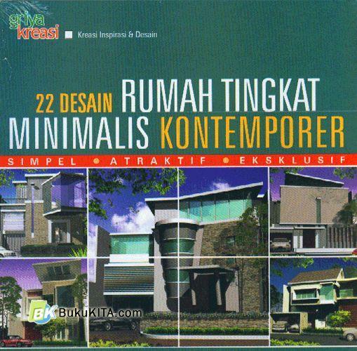 Cover Buku 22 Desain Rumah Tingkat Minimalis Kontemporer