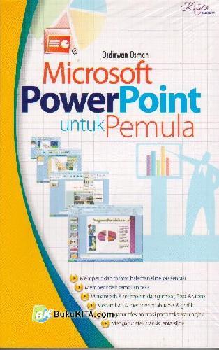 Cover Buku Microsoft PowerPoint untuk Pemula