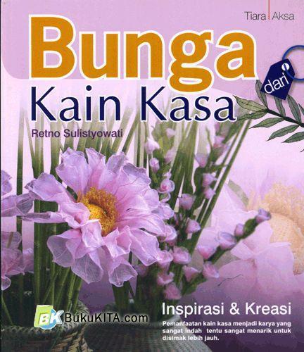 Cover Buku Bunga dari Kain Kasa