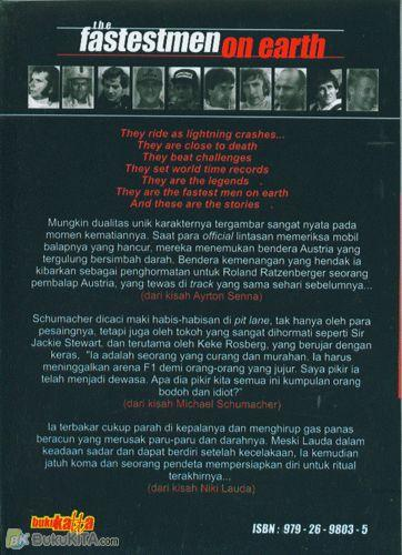 Cover Belakang Buku The Fastestmen On Earth (Stories From The Greatest World Champions of F1 Racing)