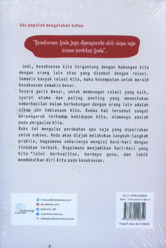 Cover Belakang Buku Dare To Change