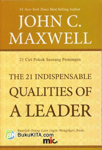 Cover Buku The 21 Indispensable Qualities of A Leader