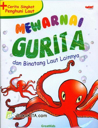 Cover Buku Mewarnai Gurita dan Binatang Laut Lainnya