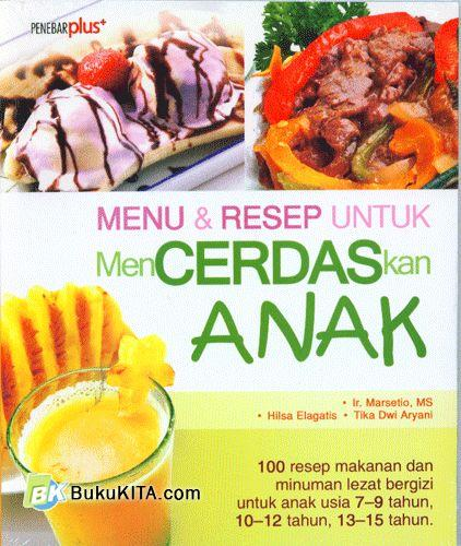 Cover Buku Menu & Resep Untuk Mencerdaskan Anak