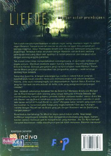 Cover Belakang Buku De Liefde : Memoar Sekar Prembajoen
