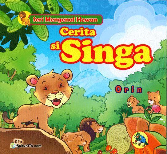 Cover Buku Cerita si Singa