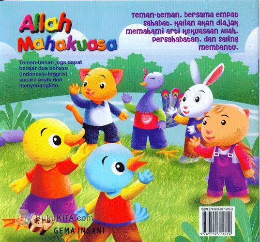 Cover Belakang Buku Seri Bilingual : Allah Mahakuasa #3