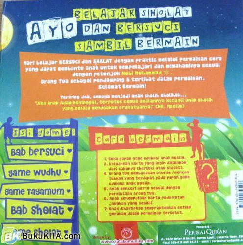 Cover Belakang Buku Games Edukasi Anak Muslim : Belajar Bersuci & Belajar Sholat