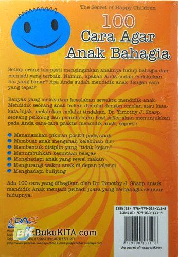 Cover Belakang Buku 100 Cara Agar Anak Bahagia - The Secret of Happy Children