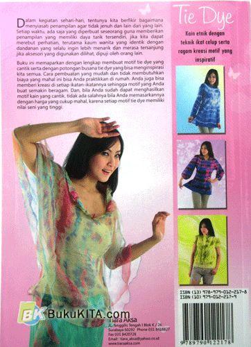 Cover Belakang Buku Tie Dye
