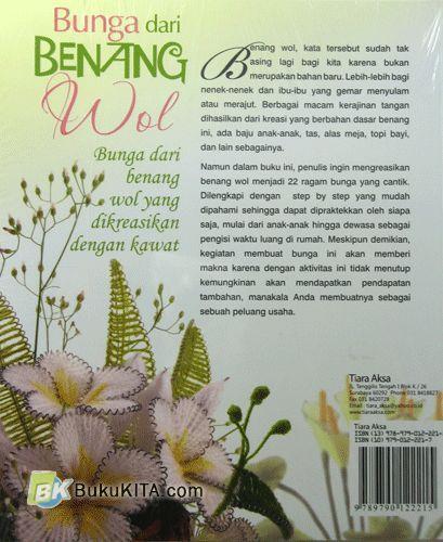 Cover Belakang Buku Bunga dari Benang Wol