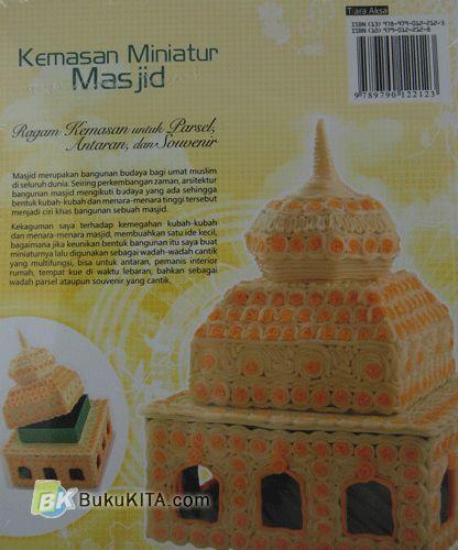 Cover Belakang Buku Kemasan Miniatur Masjid