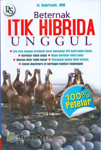Cover Buku Beternak Itik Hibrida Unggul