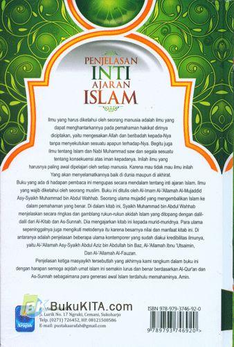 Cover Belakang Buku Penjelasan Inti Ajaran Islam