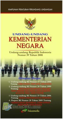 Cover Buku Undang-Undang Kementerian Negara