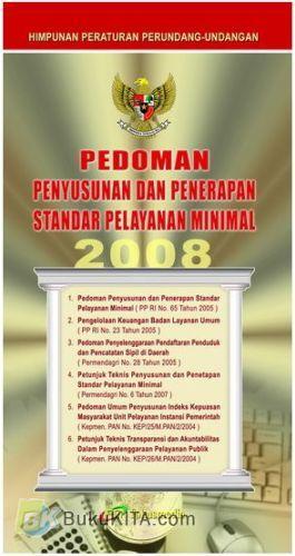 Cover Buku Pedoman Penyusunan dan Penerapan Standar Pelayanan Minimal 2008