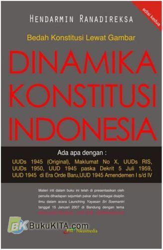 Cover Buku Bedah Konstitusi Lewat Gambar : Dinamika Konstitusi Indonesia