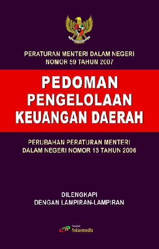 Cover Buku Pedoman Pengelolaan Keuangan Daerah (Permendagri 59 Tahun 2007)