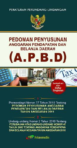 Cover Buku Pedoman Penyusunan Anggaran Pendapatan dan Belanja Daerah 2011 (APBD)