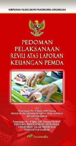 Cover Buku Pedoman Pelaksanaan Reviu Atas Laporan Keuangan Pemda